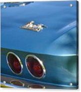 Blue Corvette Stingray Acrylic Print