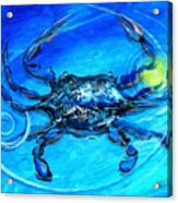 Blue Crab Abstract Acrylic Print