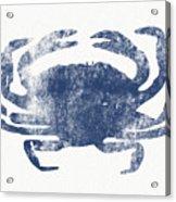 Blue Crab- Art By Linda Woods Acrylic Print