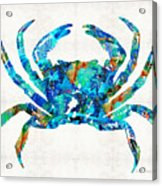 Blue Crab Art By Sharon Cummings Acrylic Print