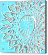 Blue Crystal Snowflake Acrylic Print