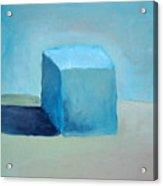 Blue Cube Still Life Acrylic Print