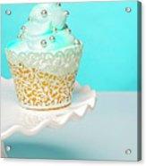 Blue Cupcake Acrylic Print