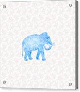 Blue Damask Elephant Acrylic Print