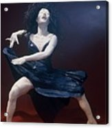 Blue Dancer Front View Acrylic Print