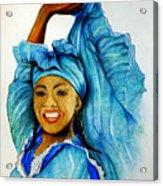 Blue Dancer  Acrylic Print