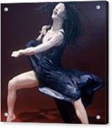 Blue Dancer Left View Acrylic Print