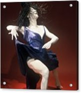Blue Dancer Right View Acrylic Print