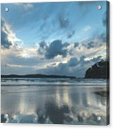 Blue Dawn Seascape With Cloud Reflections Acrylic Print