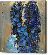 Blue Delphiniums For Nancy Acrylic Print