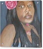 Blue Diva Acrylic Print