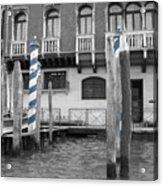 Blue Docks Acrylic Print