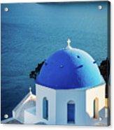 Blue Dome Acrylic Print