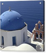 Blue Dome Pink Bell Tower Acrylic Print