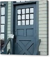 Blue Door At The Seaport Acrylic Print