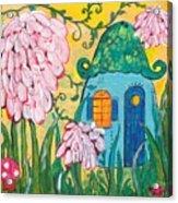 Blue Door Fairy House Acrylic Print