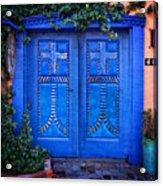 Blue Door In Old Town Acrylic Print
