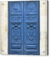 Blue Door In Paris Acrylic Print
