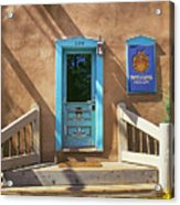Blue Door On Canyon Road Acrylic Print