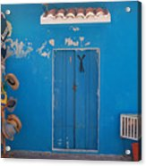 Blue Doors In Mexico Acrylic Print