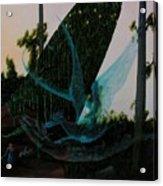 Blue Dragon-detail Acrylic Print
