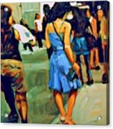 Blue Dress Acrylic Print
