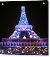 Blue Eiffel Acrylic Print