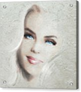 Blue Eyes Blond  Acrylic Print