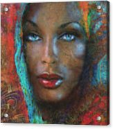 Blue Eyes Dark Oriental Acrylic Print