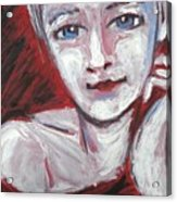 Blue Eyes - Portrait Of A Woman Acrylic Print