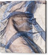 Blue Fabric Acrylic Print