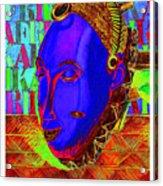 Blue Faced Mask Acrylic Print