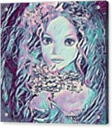 Blue Fairy Princess Acrylic Print