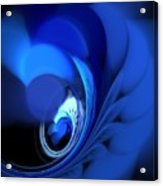 Blue Fan Leaves Acrylic Print