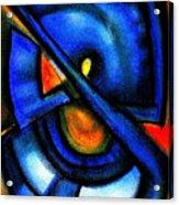 Blue Fans - Pastels Acrylic Print
