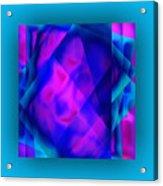 Blue Fashion Acrylic Print