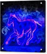 Blue Fire Horse - Da Acrylic Print