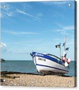 Blue Fishing Boat Acrylic Print