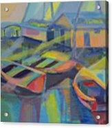 Blue Fishing Village Acrylic Print