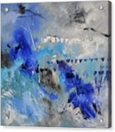 Blue Flight Abstract Acrylic Print