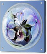 Blue Flower Orb Acrylic Print