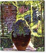 Blue Flowers Acrylic Print by David Lloyd Glover