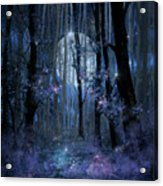 Blue Forest Acrylic Print