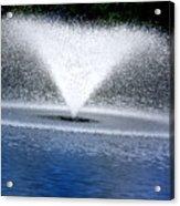 Blue Fountain Acrylic Print