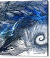Blue Fractal Storm Acrylic Print