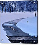 Blue Frozen River Acrylic Print