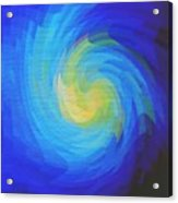 Blue Galaxy Acrylic Print