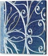 Blue Gate Mosaic Acrylic Print