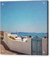 Blue Gate Santorini Acrylic Print
