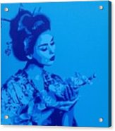 Blue Geisha Acrylic Print